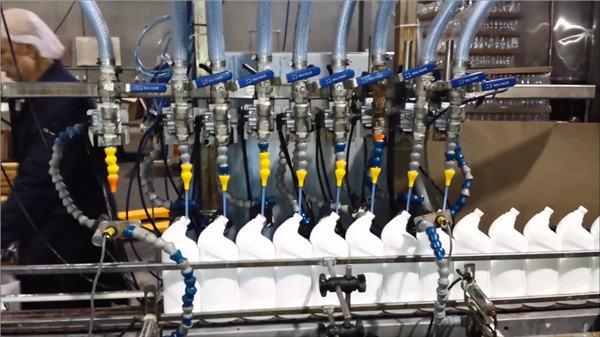 Pembersih Mesin Pembersih Jisim penuh automatik Bleach Linear type Filling Machine