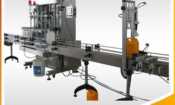 Mesin pengisian cecair pembersih automatik