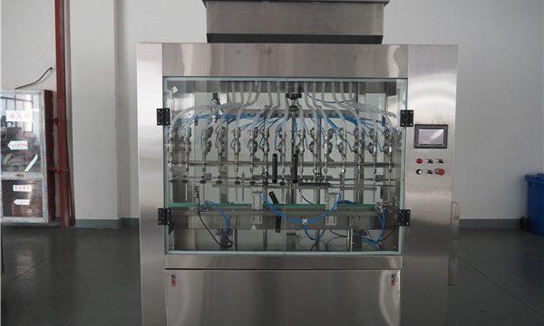Automatik 12 kepala Mesin pengisian tekanan cecair tekanan atmosfera
